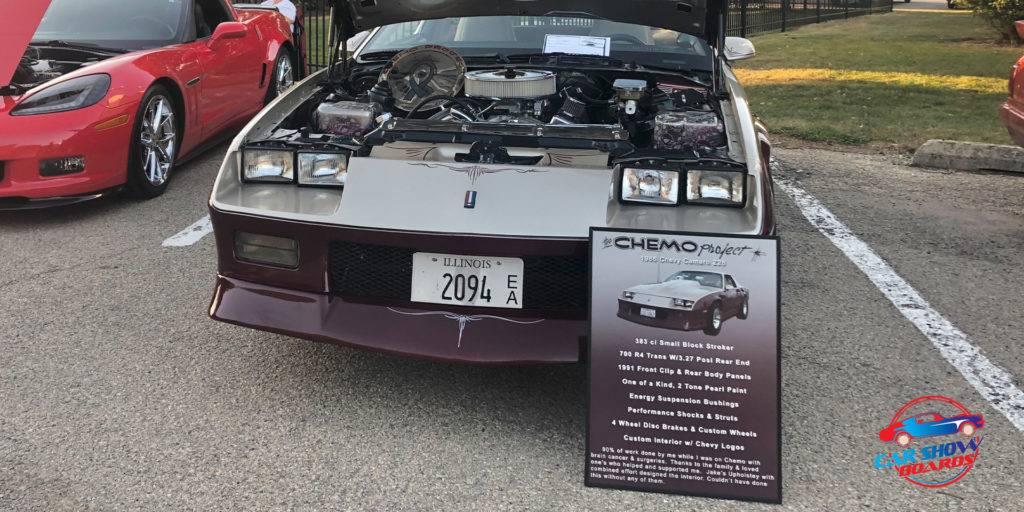 Chevy Camaro Car Show Board