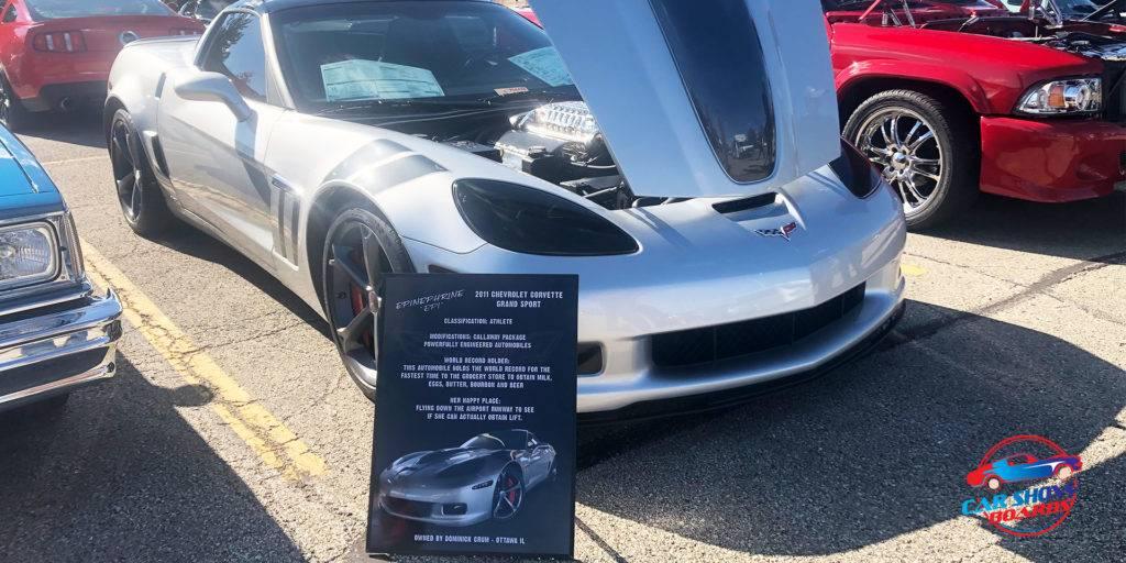 Chevy Corvette Car Show Board