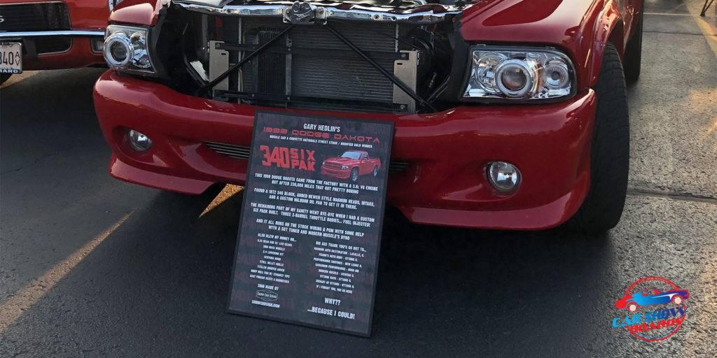 Dodge Dakota Car Show Board