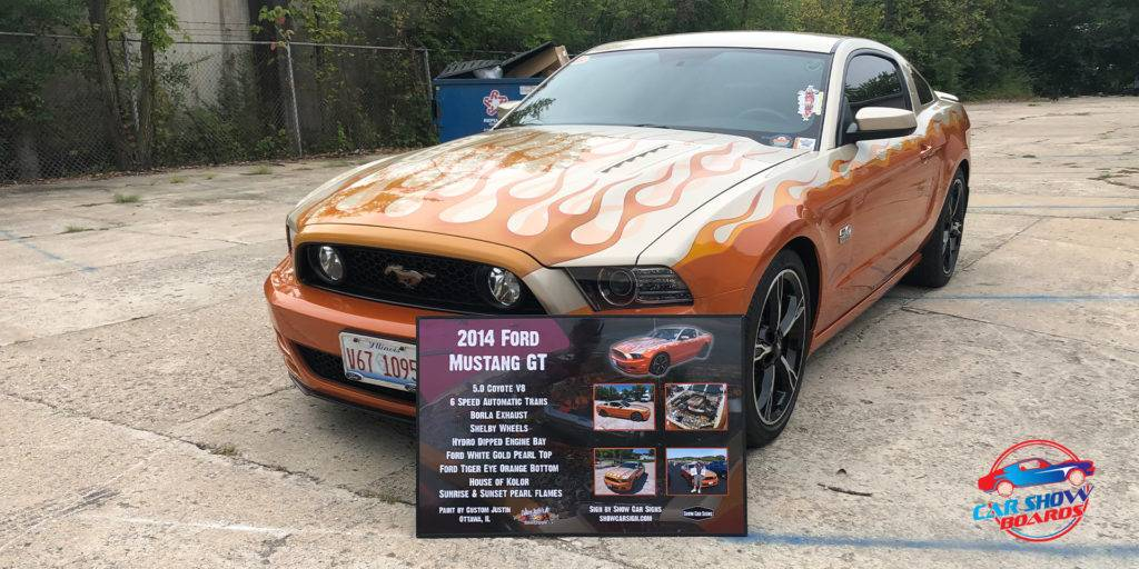 Ford Mustang Car Show Board