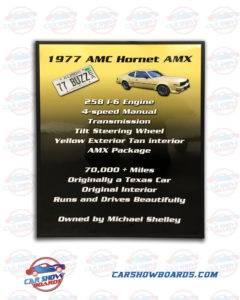 Hornet AMX Show Board