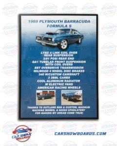 Barracuda Car Show Board