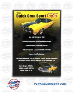 Buick GS Show Board