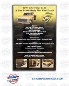 C30 Car Show Board
