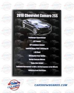 Camaro 2SS Car Show Board