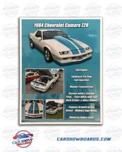 Camaro Show Board