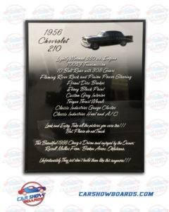 Chevy 210 Show Board