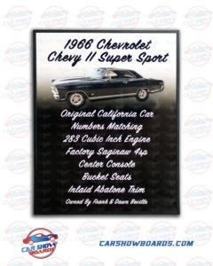 Chevy II Car Show Board