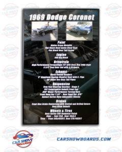 Coronet Car Show Board