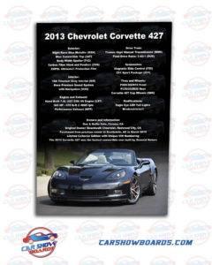 Corvette Car Show Board