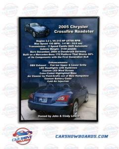 Crossfire Car Show Board