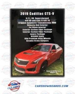 CTS-V Show Board