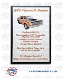 Duster Car Show Board