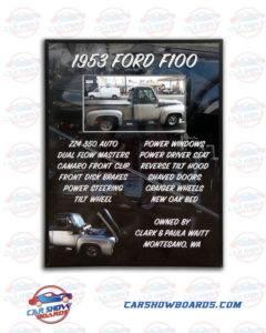 Ford F100 Show Board