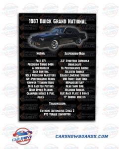 Grand National Car Show Board