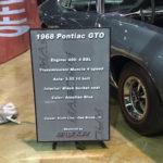 GTO Car Show Board