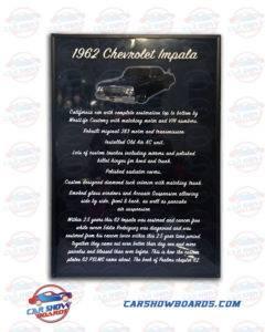 Impala Car Show Board