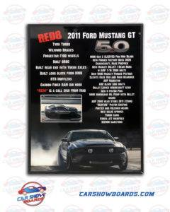 Ford Mustang Show Board