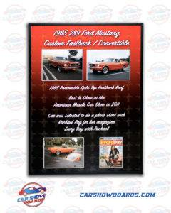 Fastback Mustang Show Board