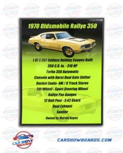 Rallye 350 Show Board