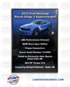 Roush Mustang Show Board