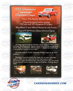 Studebaker Show Board