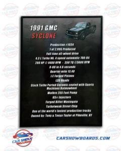 Syclone Show Board